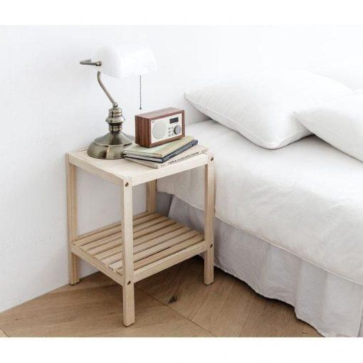 Kệ gỗ thông đầu giường thiết kế