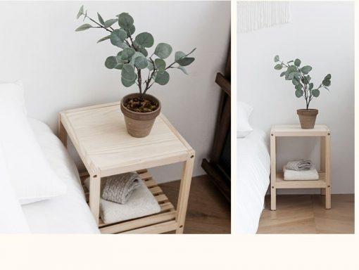 Kệ tab đầu giường chất liệu gỗ thông
